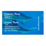 Pares de tarjetas de visita de los tiburones