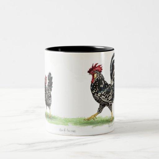 Pares de taza de los pollos de Ancona