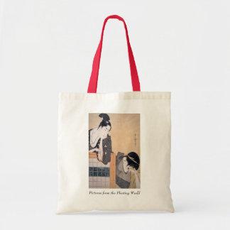 Pares de Utamaro con la pantalla derecha Bolsa Tela Barata