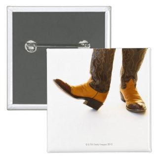 Pares de zapatos del vaquero pin cuadrada 5 cm