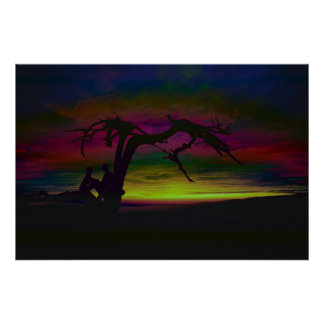 Pares debajo del árbol impresiones