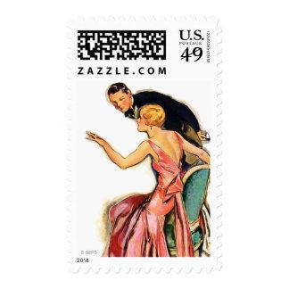 Pares dedicados sello postal