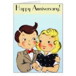 Pares del aniversario del vintage tarjeta