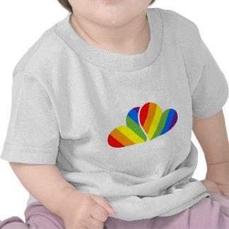Pares del arco iris camiseta