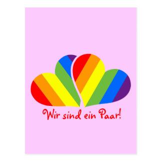 Pares del arco iris postales