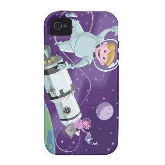 pares del astronauta del paseo del espacio que com Case-Mate iPhone 4 carcasa