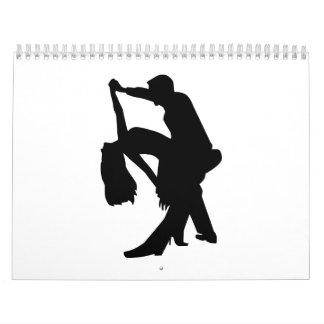 Pares del baile calendario de pared