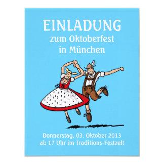 Pares del baile de Oktoberfest Munich de la Invitación Personalizada