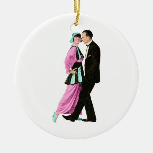 pares del baile del vintage de los años 20 ornamentos para reyes magos