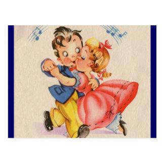Pares del baile tarjeta postal