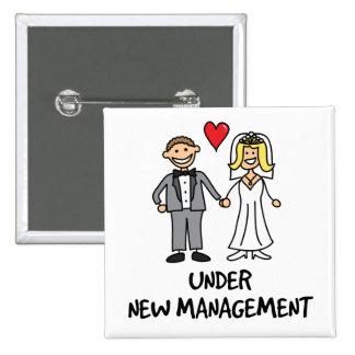 Pares del boda - bajo nueva gestión pin cuadrado