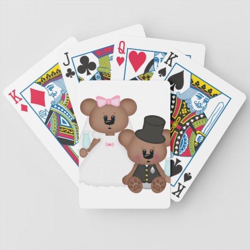 Pares del boda barajas de cartas