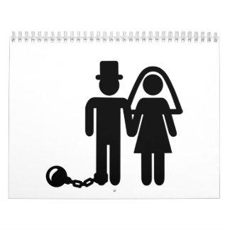 Pares del boda calendarios