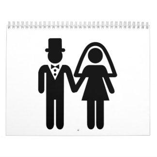 Pares del boda calendarios de pared