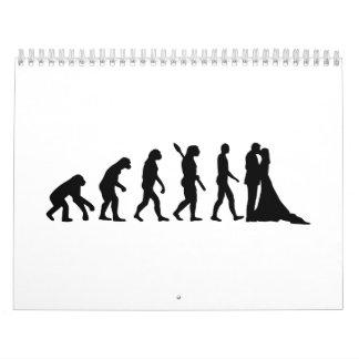Pares del boda de la evolución calendario