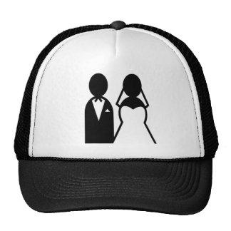 Pares del boda del icono gorra