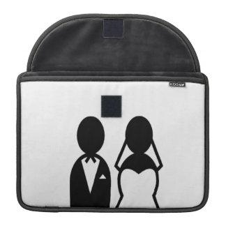 Pares del boda del icono funda macbook pro