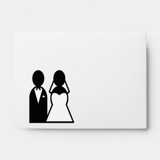 Pares del boda del icono sobres
