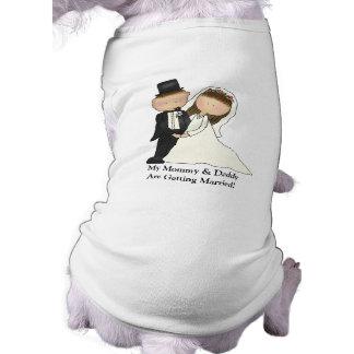 Pares del boda (personalizable) playera sin mangas para perro