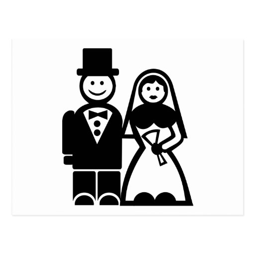 Pares del boda tarjetas postales
