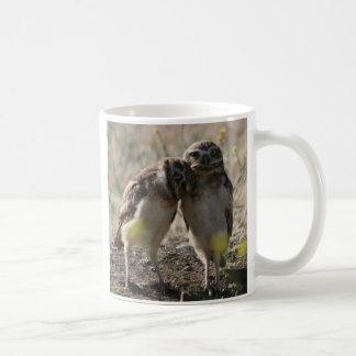pares del búho taza de café