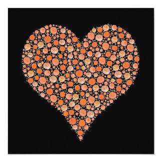 Pares del compromiso de corazones color de rosa invitación 13,3 cm x 13,3cm