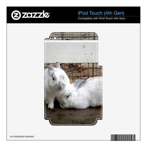 Pares del conejito iPod touch 4G skin