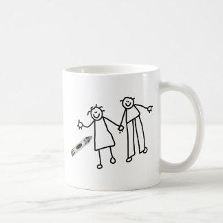 Pares del creyón tazas de café