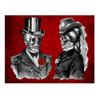 Pares del esqueleto del cráneo del Grunge Postales
