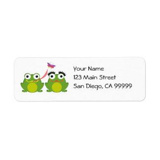 Pares del Froggy Etiquetas De Remite