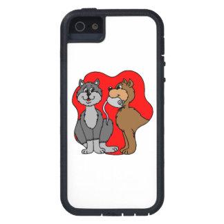 Pares del gato iPhone 5 Case-Mate cobertura