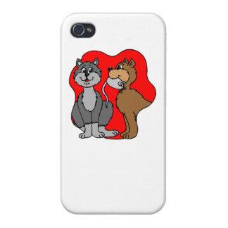 Pares del gato iPhone 4 protector