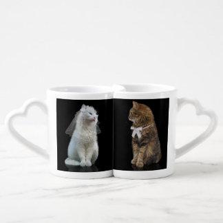 Pares del gato set de tazas de café