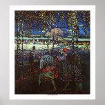 Pares del montar a caballo de Wassily Kandinsky Poster