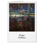 Pares del montar a caballo, Wassily Kandinsky 1907 Tarjetón