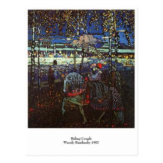 Pares del montar a caballo, Wassily Kandinsky 1907 Postal