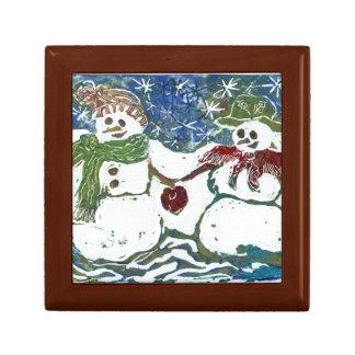 Pares del muñeco de nieve del navidad - impresión cajas de regalo