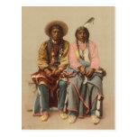 Pares del nativo americano, 1899 tarjeta postal