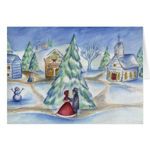 Pares del navidad del Victorian Felicitación