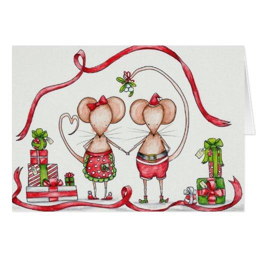 Pares del navidad tarjetas