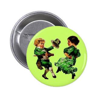 Pares del niño del baile del día de St Patrick Pins