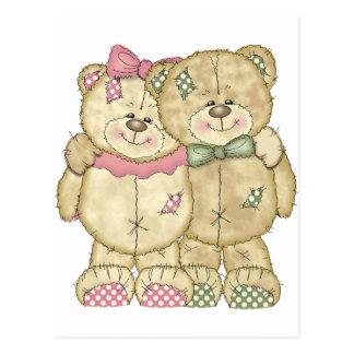 Pares del oso de peluche - colores originales postales