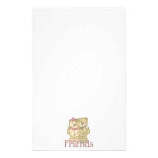 Pares del oso de peluche de los amigos - colores o papelería de diseño