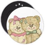 Pares del oso de peluche de los amigos - colores o pin