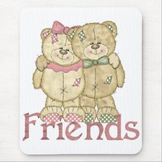 Pares del oso de peluche de los amigos - colores o tapete de raton