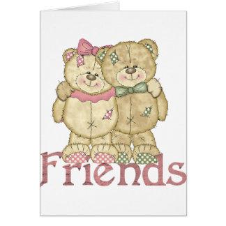 Pares del oso de peluche de los amigos - colores o felicitacion