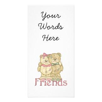 Pares del oso de peluche de los amigos - colores o tarjeta personal