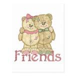 Pares del oso de peluche de los amigos - colores o tarjetas postales