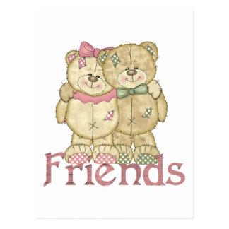 Pares del oso de peluche de los amigos - colores postal