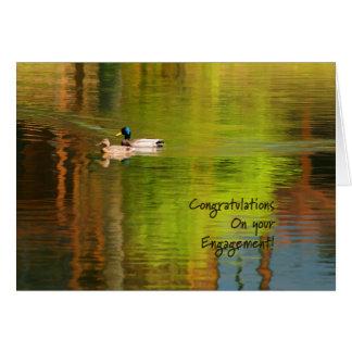 Pares del pato silvestre - enhorabuena del tarjeta de felicitación